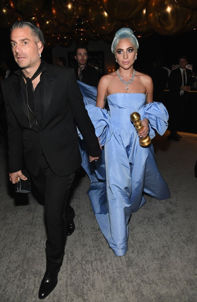 Lady Gaga and Christian Carino at the Golden Globes in 2019 | Photo: Getty Images