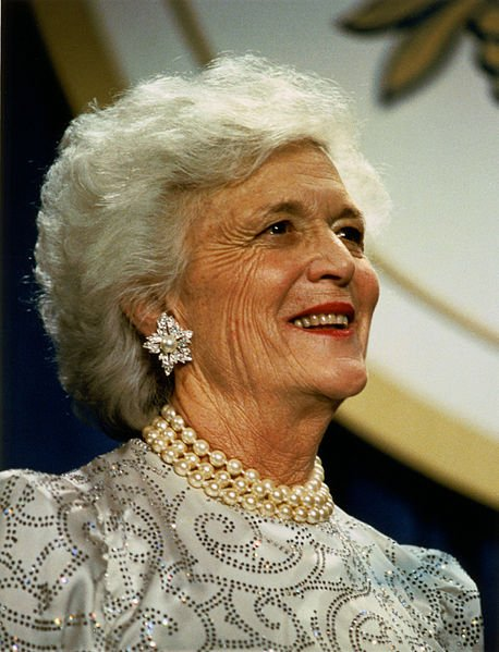 The late Barbara Bush, former First Lady of the United States of America   Source: Wikimedia