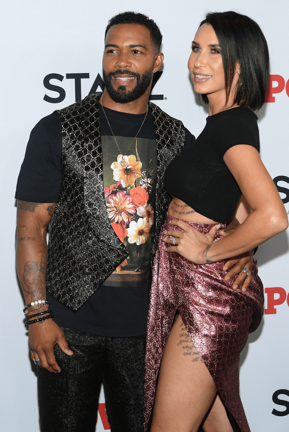 """Omari Hardwick and Jennifer Pfautch at the """"Power"""" final season world premiere in August 2019 in New York City. 