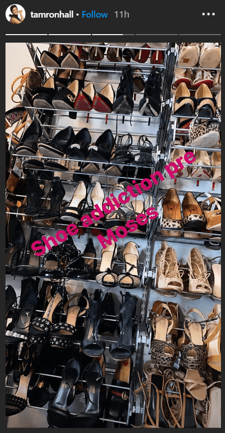A photo of Tamron Hall's shoe collection featured on her Instagram story | Photo: Instagram/tamronhall