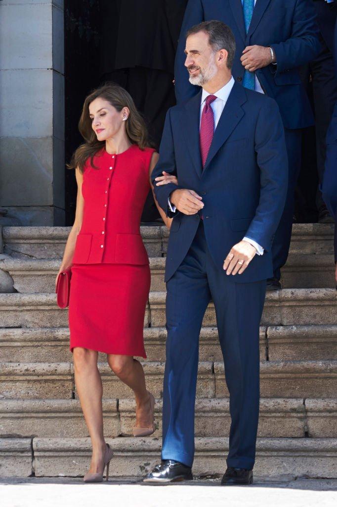 El Rey Felipe y la Reina Letizia en los premios 'Cultura Nacional' el 13 de septiembre de 2017. | Foto: Getty Images