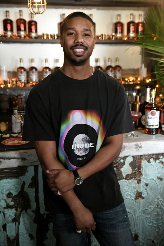 """Michael B. Jordan at a bar he co-owns that serves """"Black Panther"""" drinks   Source: Getyy Images/GlobalImagesUkraine"""