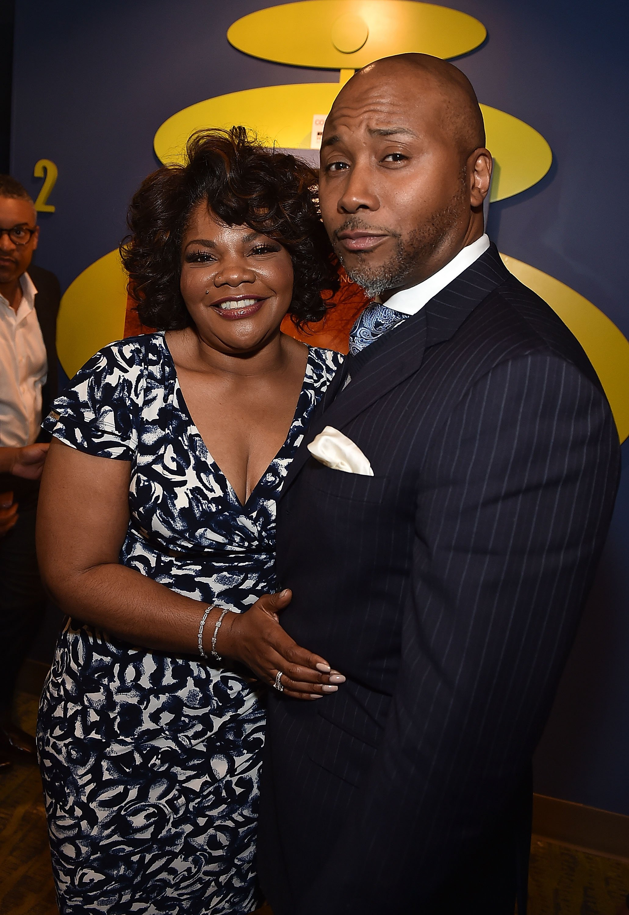 "Mo'Nique and her husband, Sidney Hicks at the premiere of ""Blackbird"" in April 2015. 