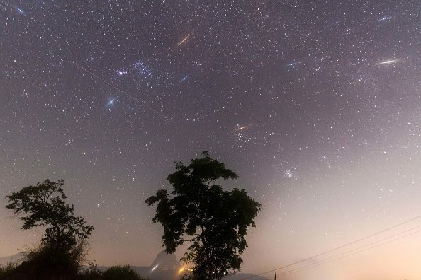 Geminid meteor shower seen from Pawna Lake near Lonavala, on December 14, 2017. | Photo: Getty Images