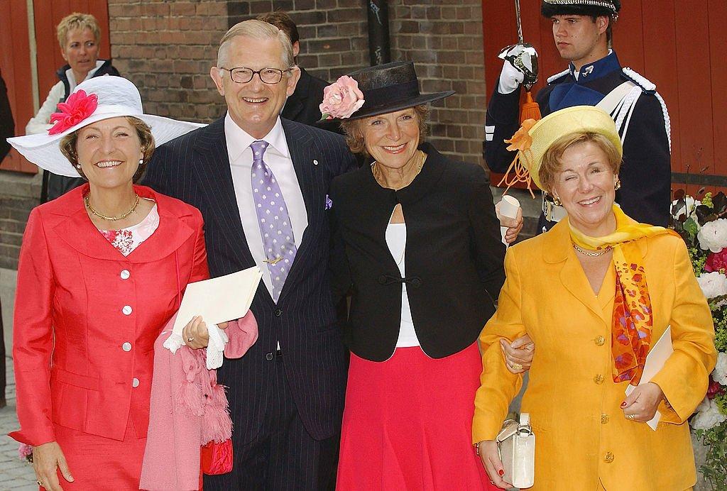 La princesa Margriet, Pieter Van Vollenhoven, la Princesa Irene y la Princesa Christina en La Haya el 12 de junio de 2004. | Imagen: Getty Images