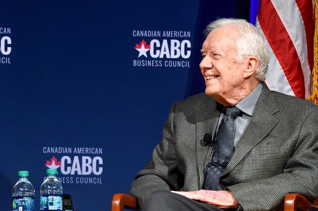 Former President Jimmy Carter speaks at 'The Board of Directors of the Canadian American Business Council. | Photo: Getty Images