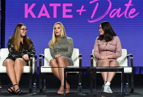 Cara Gosselin, Kate Gosselin, and Mady Gosselin during the TLC portion of the Discovery Communications Winter 2019 TCA Tour at the Langham Hotel on February 12, 2019, in Pasadena, California.  Photo: Getty Images