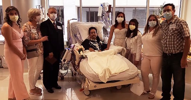 Patient with COVID-19 Married His Fiancée While on a Hospital Bed in a Touching Ceremony
