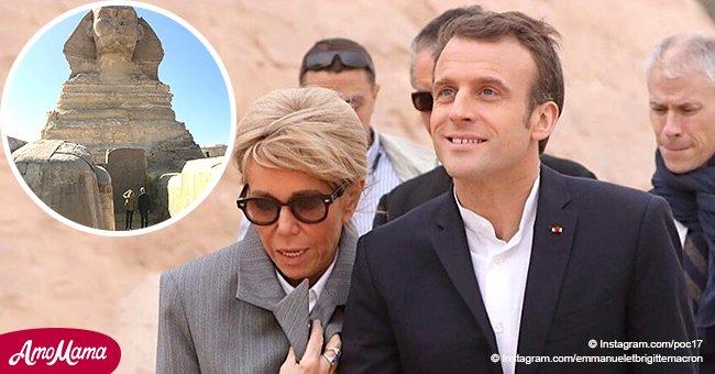 Brigitte Macron s'est laissée aller à la détente après des réunions officielles près des sites égyptiens