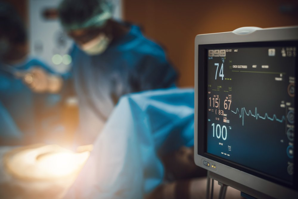 A photo of an electrocardiogram in hospital surgery operating emergency room.   Photo: Shutterstock