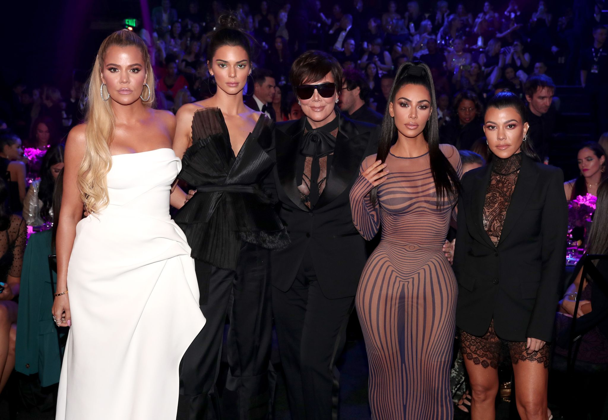 Khloe, Kim & Kourtney Kardashian, and Kris & Kendall Jenner at the 2018 E! People's Choice Awards in November 2018 | Photo: Getty Images