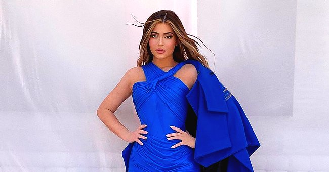 Kylie Jenner Wears a Blue Mini Dress for Her 'Vogue' Backyard Shoot Taken with Her iPhone