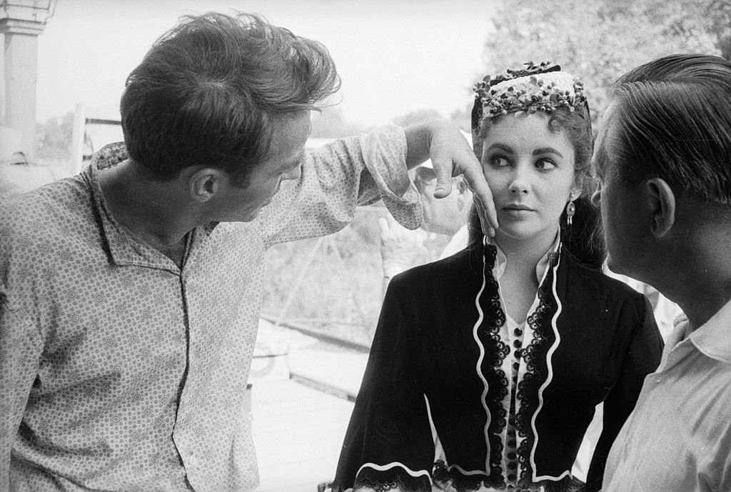 "Montgomery Clift and Elizabeth Taylor filming ""Raintree County"" in 1956 