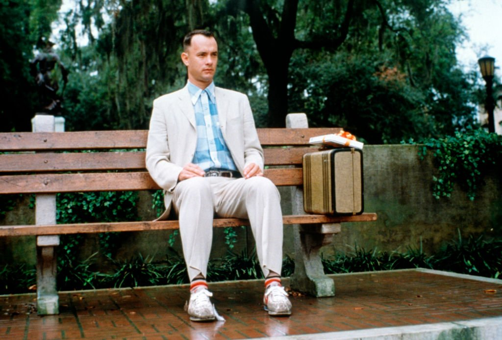 Tom Hanks as 'Forrest Gump'  in 1994 directed by Robert Zemeckis. | Source: Getty Images