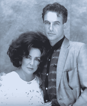"""Co-stars Mark Harmon and Elizabeth Taylor from the 1989 film """"Sweet Bird of Youth."""" 