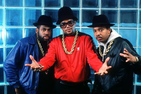 """Joseph Simmons (""""Run""""), Darry McDaniels (""""DMC""""), and Jason Mizell (""""Jam Master Jay"""") were photographed in New York in 1988. 