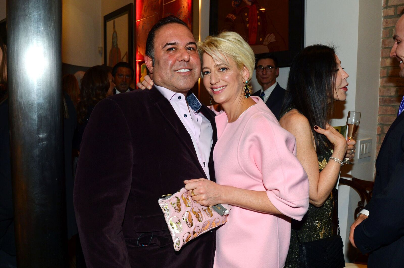 John Mahdessian and Dorinda Medley attend Leesa Rowland, Ramona Singer, R. Couri Hay & Cornelia Guest Salute Animal Ashram at Chez Couri on December 19, 2016 | Photo: Getty Images