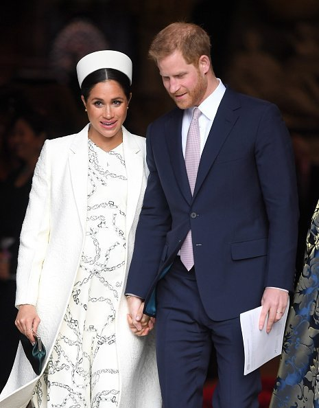 Meghan and Prince Harry at the Commonwealth Day service in London, England | Photo: Getty Images