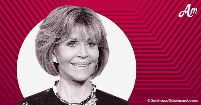 Jane Fonda steps out in eye-catching silk blue suit after revealing she's 'done' with dating