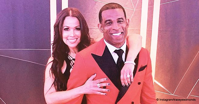 Tracey Edmonds sparks engagement rumors in photo with partner Deion Sanders touching her thigh