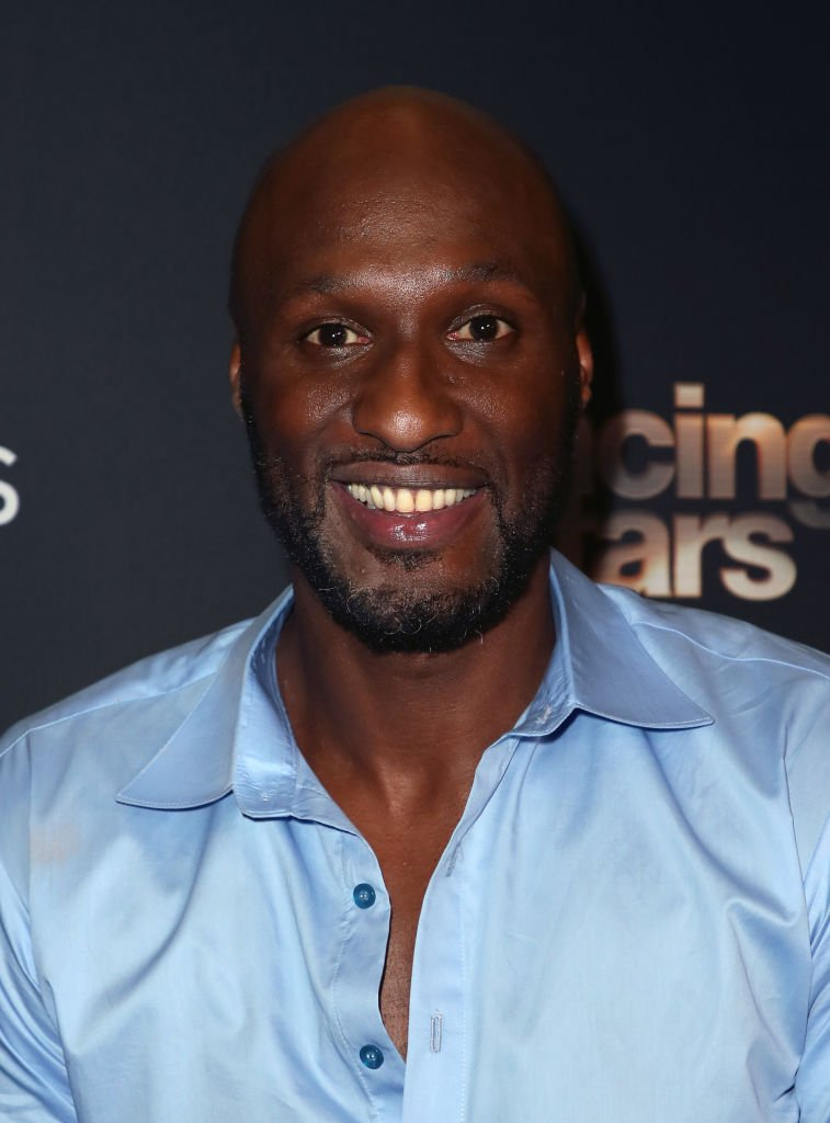 """Lamar Odom poses at """"Dancing with the Stars"""" Season 28 at CBS Televison City 