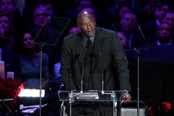 Michael Jordan speaks during The Celebration of Life for Kobe & Gianna Bryant at Staples Center on February 24, 2020 in Los Angeles, California. | Photo: Getty Images