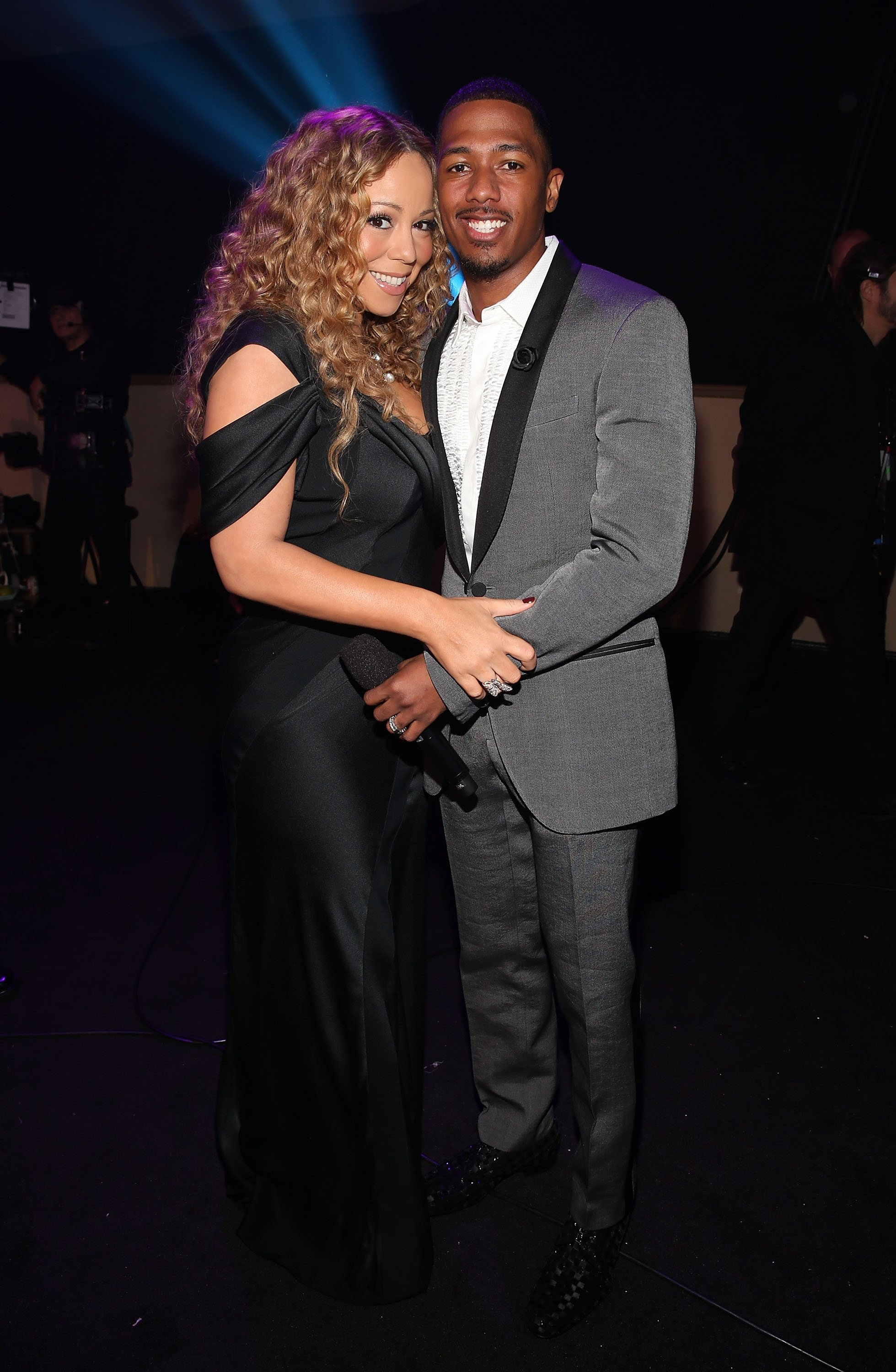 Mariah Carey & Nick Cannon at Nickelodeon's 2012 TeenNick HALO Awards on Nov. 17, 2012 in California   Photo: Getty Images