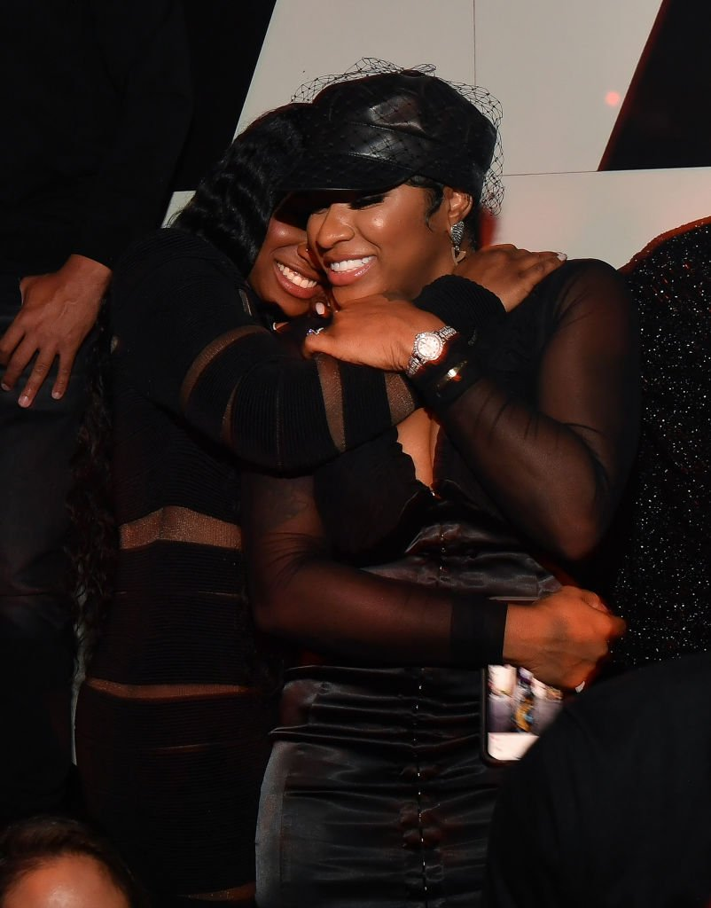 """Reginae Carter hugs her mother Antonia """"Toya"""" Wright herbirthday party at the Gold Room on November 30, 2019, in Atlanta, Georgia   Source: Getty Images (Photo by Prince Williams/Wireimage)"""