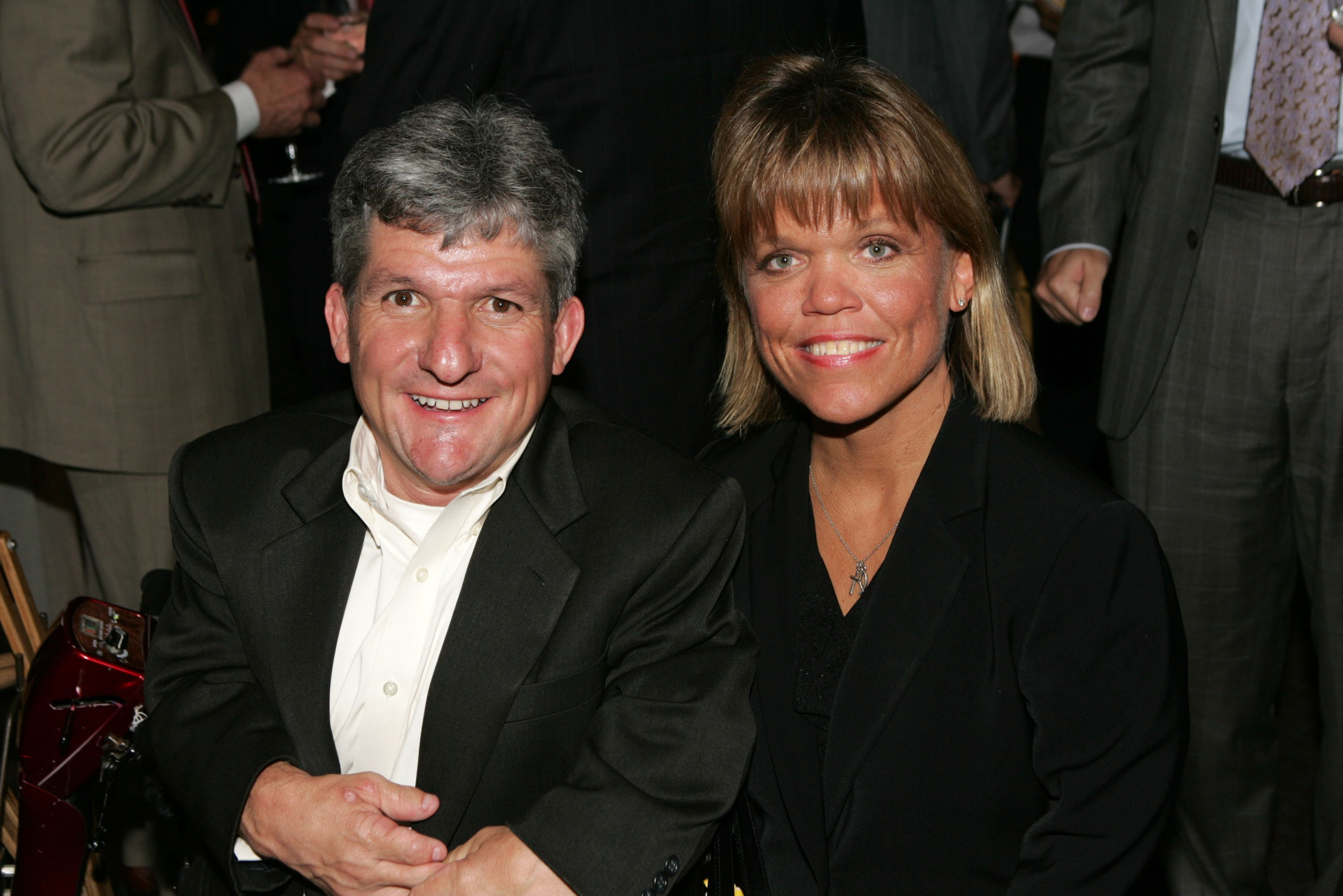Matthew Roloff and Amy Roloff speak at the Discovery Upfront event at Jazz at Lincoln Center on April 23, 2008 in New York City | Photo: Getty Images