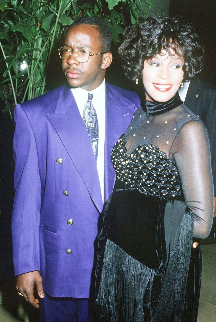 Whitney Houston (1963 - 2012) and her husband, singer Bobby Brown, circa 1992. | Source: Getty Images
