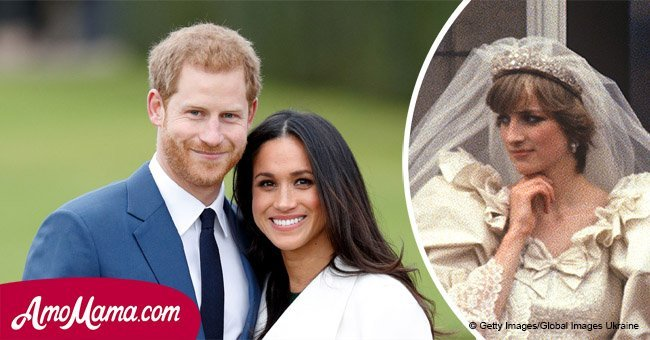 Meghan Markle may wear an iconic part of Diana's wedding dress for her wedding with Harry