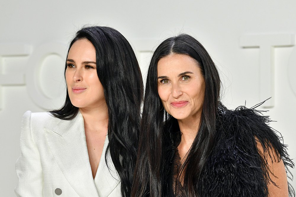 Rumer Willis and Demi Moore attending the Tom Ford AW20 Show at Milk Studios Hollywood, California in February 2020. I Image: Getty Images.