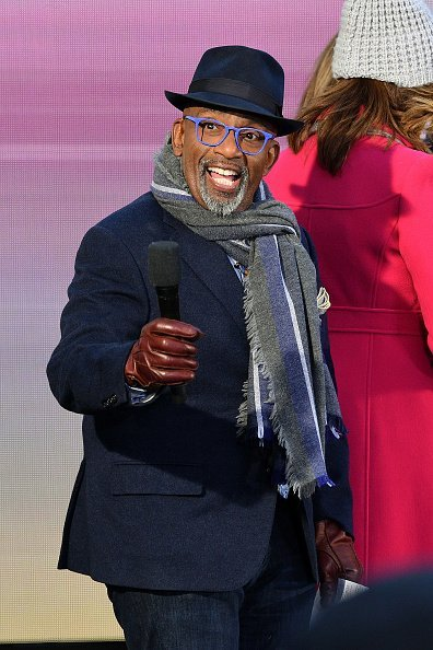 "Al Roker at the ""Today"" Show at Rockefeller Plaza on February 21, 2020 in New York City. 