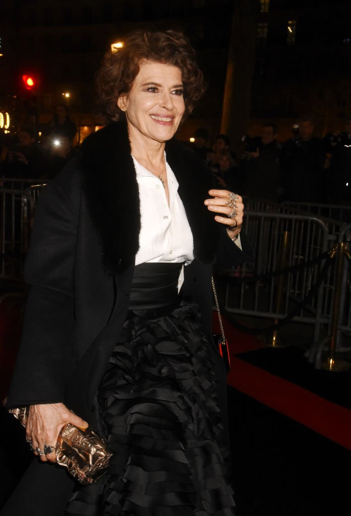 L'actrice récompensée Fanny Ardant assiste au dîner au Fouquet's le 29 février 2020 à Paris, France. | Photo : Getty Images.
