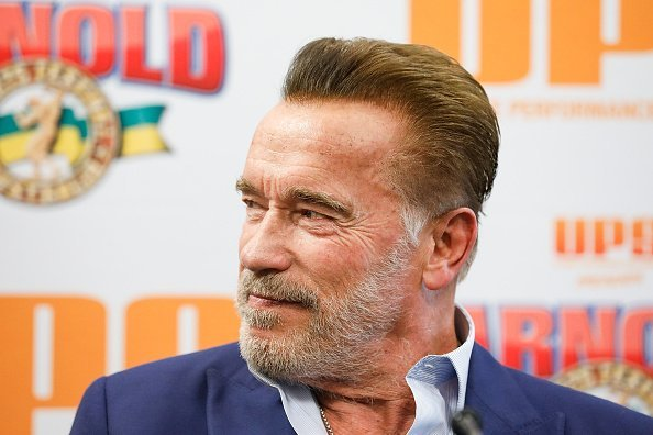 Actor, Arnold Schwarzenegger at a press conference in Melbourne, Australia. | Photo: Getty Images.
