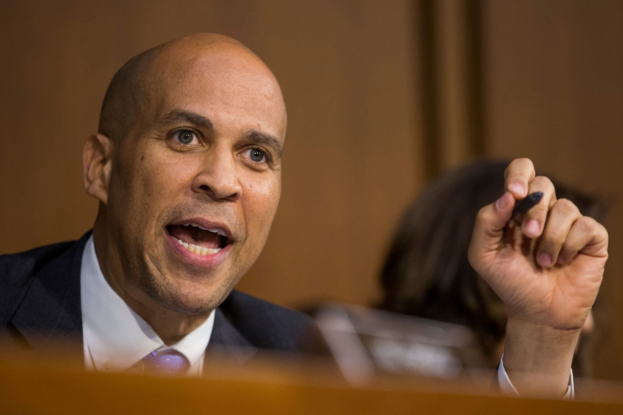 Senator Cory Booker speaking at a hearing on Capitol Hill in September 2018 in Washington D.C. | Source: Getty Images