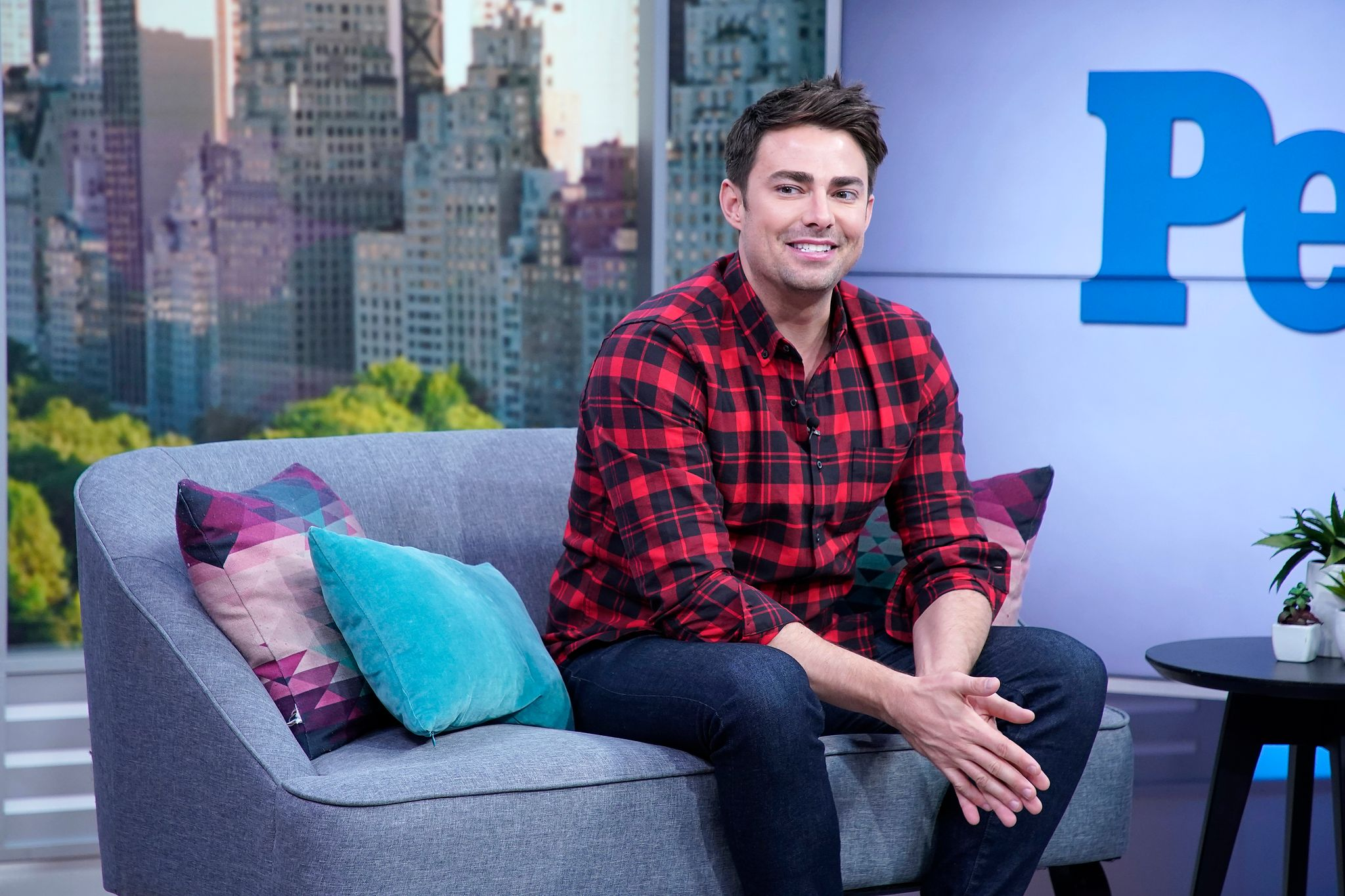 """Jonathan Bennett at"""" People Now"""" in November 2019 in New York, United States 