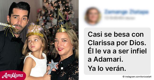 Toni Costa defiende su relación con Adamari López tras caliente baile con una concursante
