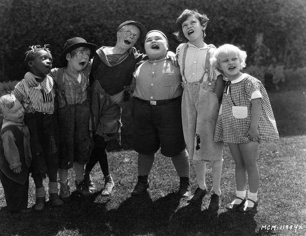"""The child stars of the """"Our Gang"""" film series, otherwise known as the """"Little Rascals"""" on January 01, 1928 