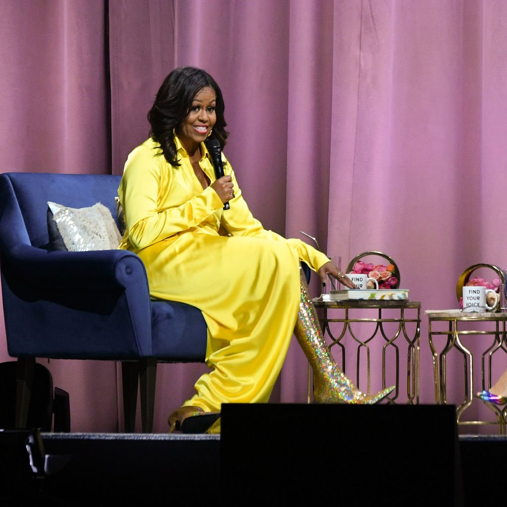 """Former first lady Michelle Obama discussed her book """"Becoming"""" at Barclays Center on December 19, 2018 in New York City   Photo: Getty Images"""