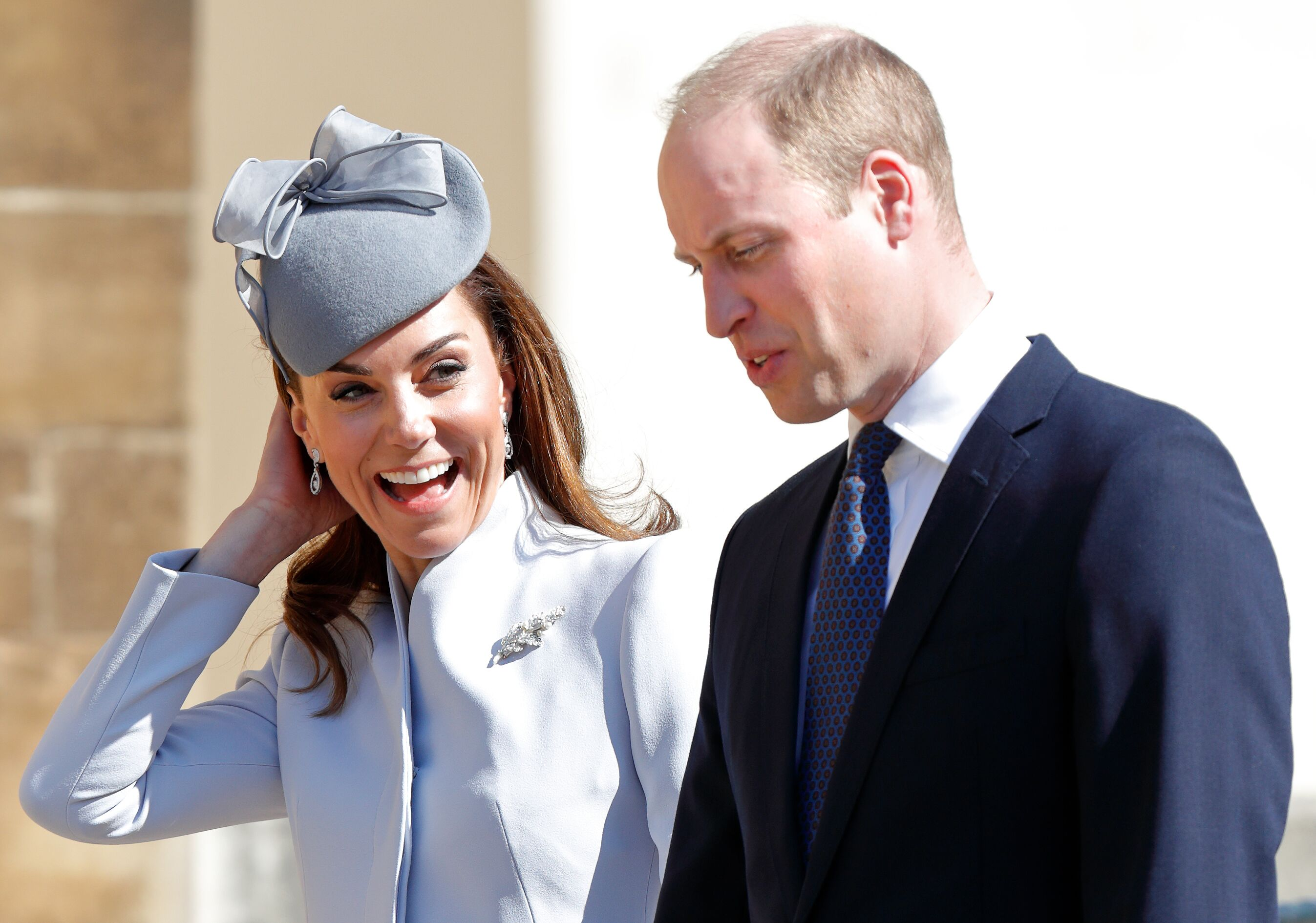 Catherine, Duchess of Cambridge and Prince William, Duke of Cambridge attend the traditional Easter Sunday church service at St George's Chapel, Windsor Castle on April 21, 2019   Photo: Getty Images