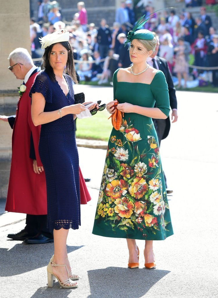 Lady Kitty Spencer (right) arrives at St George's Chapel at Windsor Castle before the wedding of Prince Harry to Meghan Markle on May 19, 2018 | Photo: GettyImages