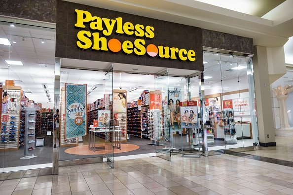 "The entrance to a ""Payless Shoesource"" store at the Coastland Center Shopping Mall 
