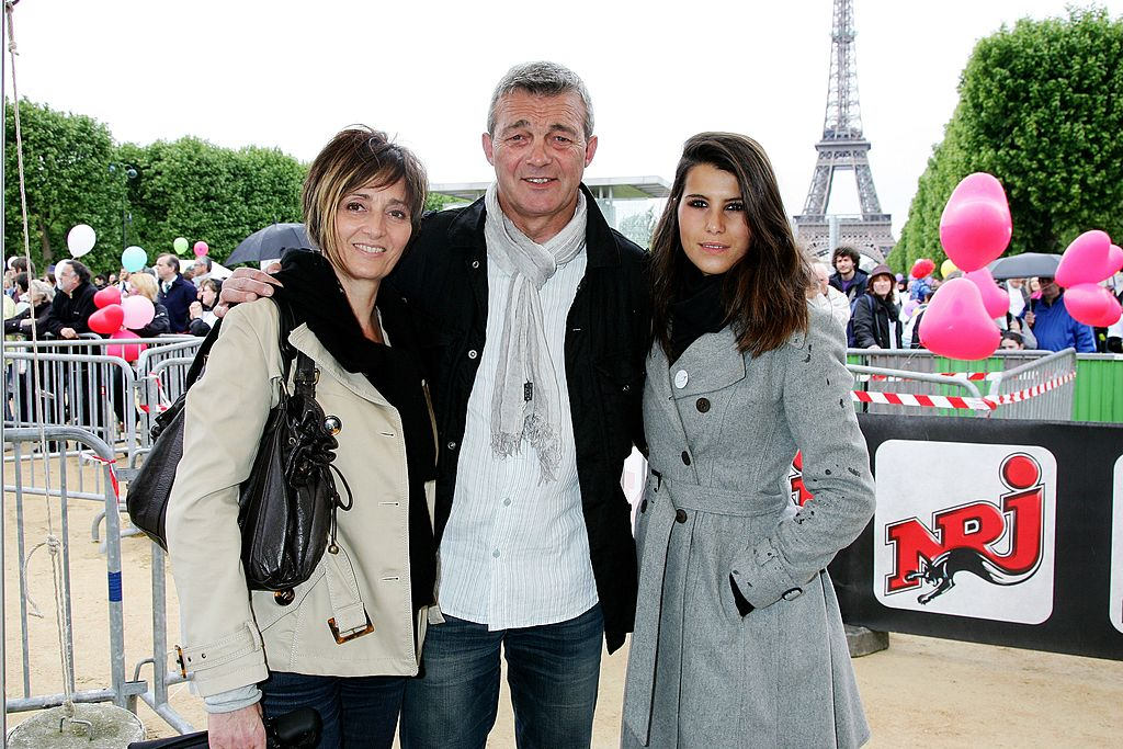 Karine Ferri et les parents de Gregory Lemarchal Pierre et Laurence | Photo : Getty Images