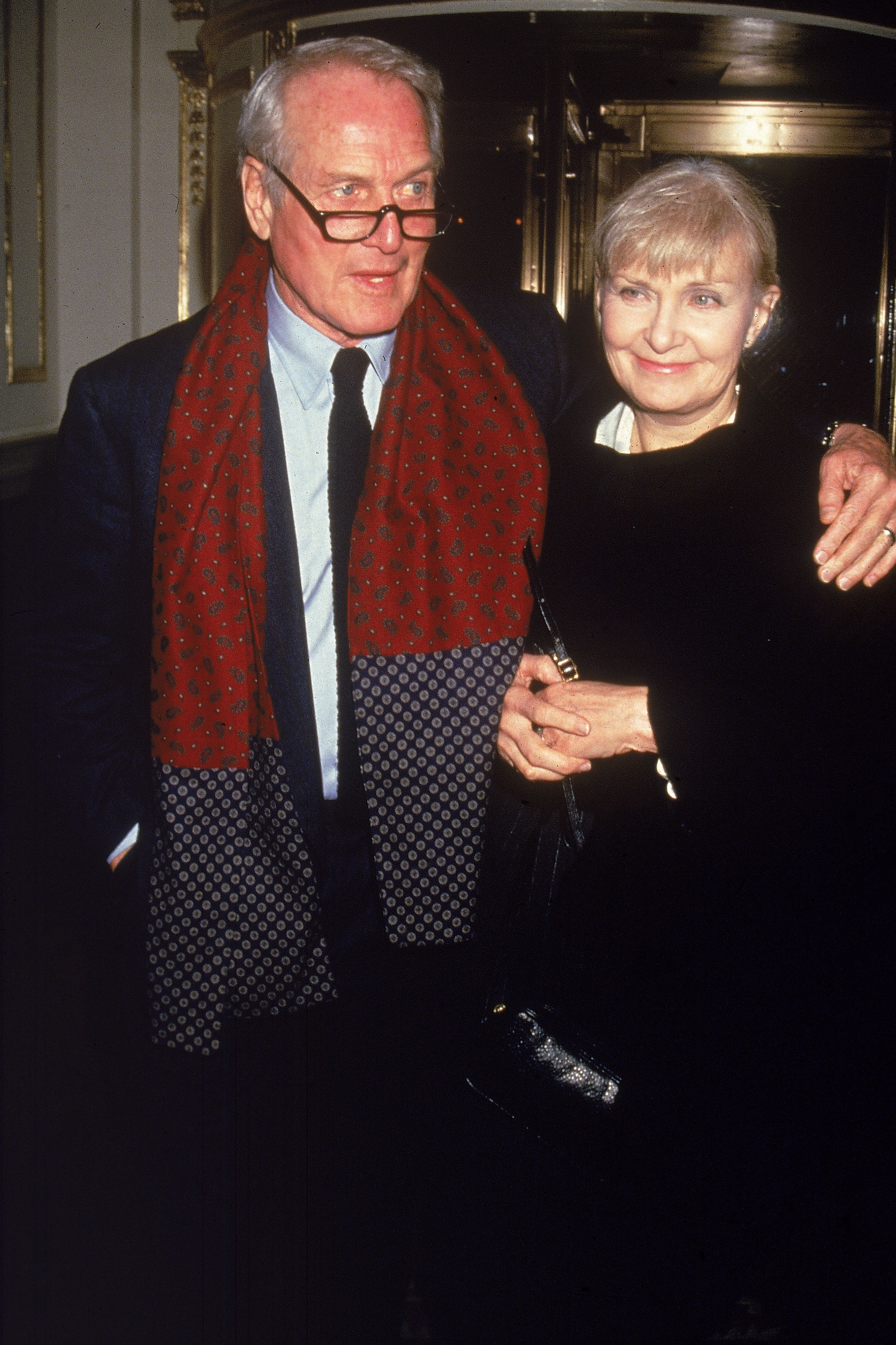 """Paul Newman and Joanne Woodward at the premiere of the film """"Nobody's Fool"""", 1994 