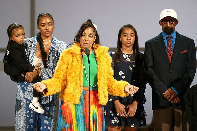 Nipsey Hussle's family accepting his BET Humanitarian Award   Source: Getty Images/GlobalImagesUkraine