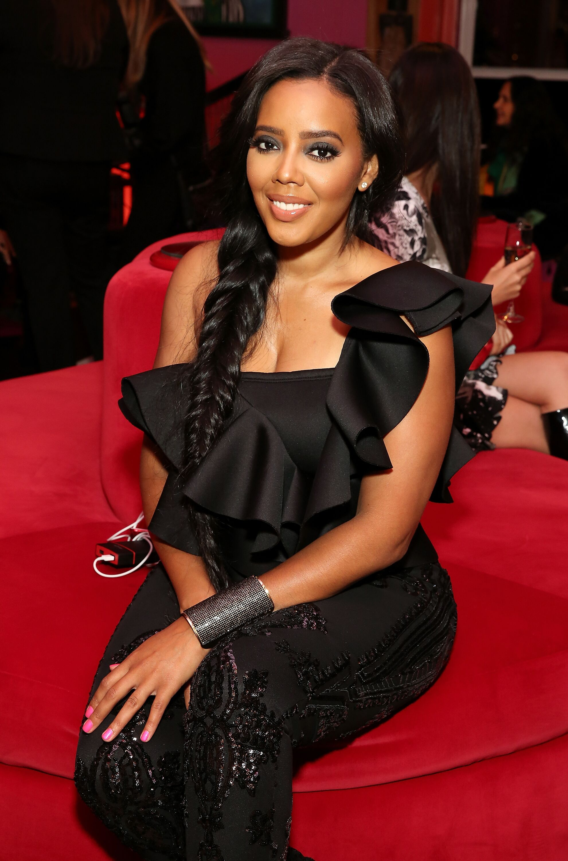 """""""Love & Hip Hop"""" star Angela Simmons, daughter of rapper Rev. Run/ Source: Getty Images"""