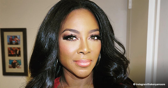 Kenya Moore Shows off Her Natural Hair and Face in Make-Up Free Selfie