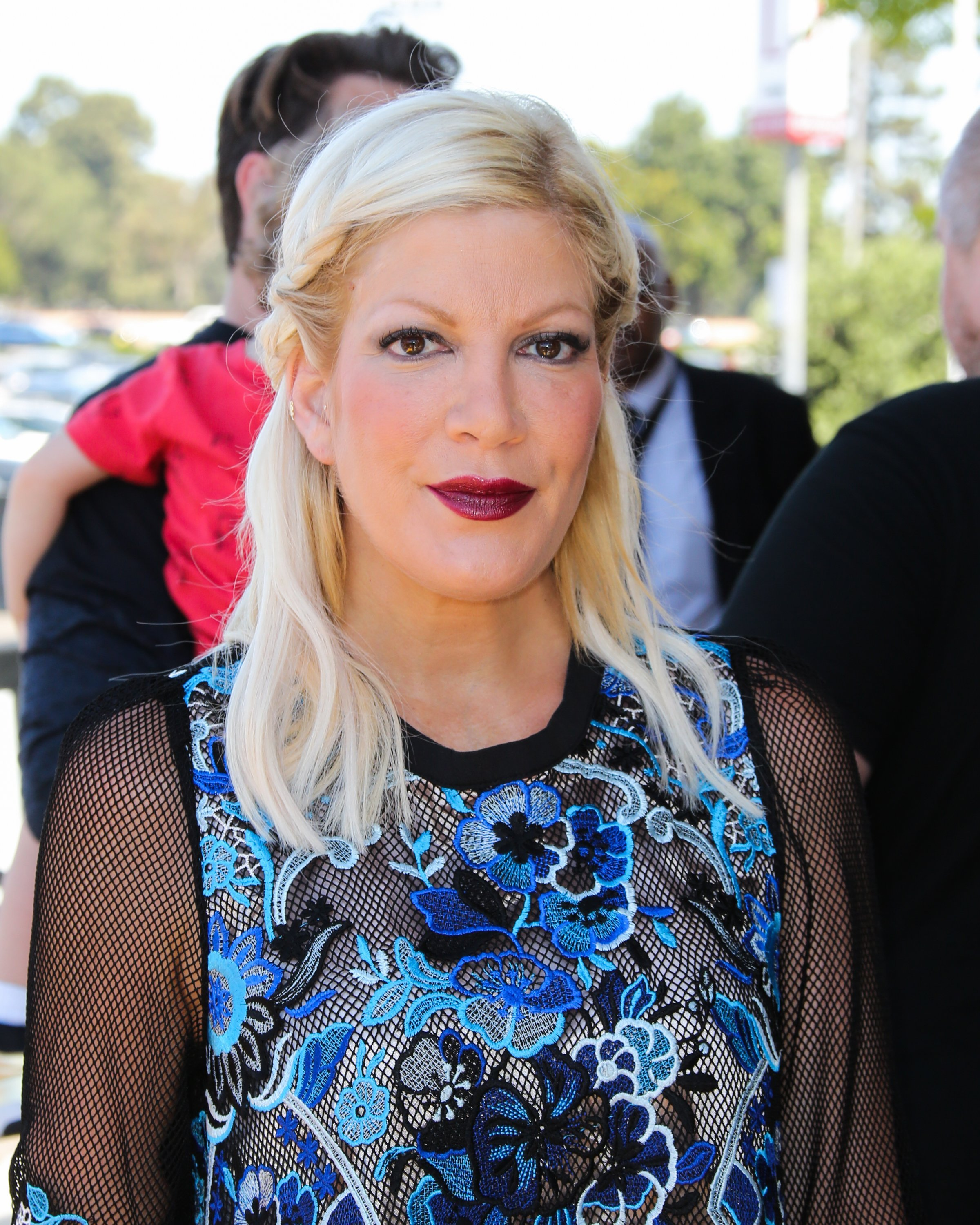 Actress / TV Personality Tori Spelling attends the celebrity premiere Marvel Universe LIVE! | Source: Getty Images