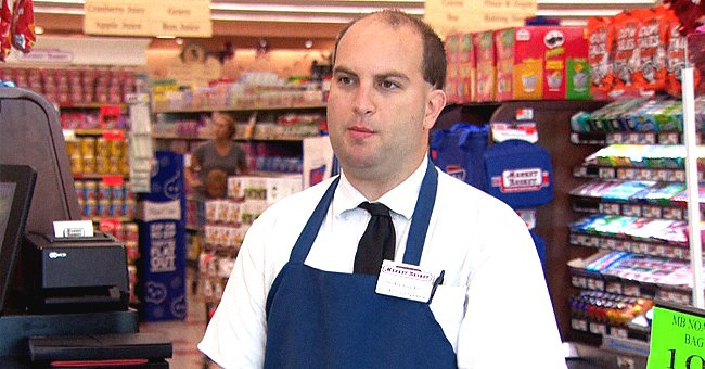 Briar Poirier, a Market Basket employee, at the grocery during his shift. | Source: twitter.com/wbz